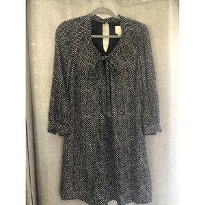 Kate Spade black/white tie collar dress sz small